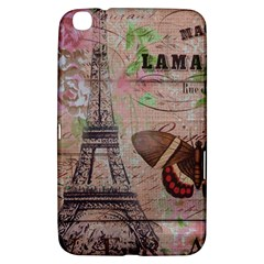 Girly Bee Crown  Butterfly Paris Eiffel Tower Fashion Samsung Galaxy Tab 3 (8 ) T3100 Hardshell Case