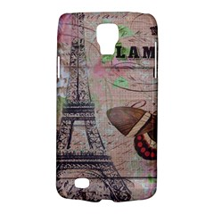 Girly Bee Crown  Butterfly Paris Eiffel Tower Fashion Samsung Galaxy S4 Active (I9295) Hardshell Case
