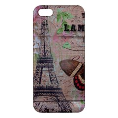 Girly Bee Crown  Butterfly Paris Eiffel Tower Fashion Iphone 5s Premium Hardshell Case