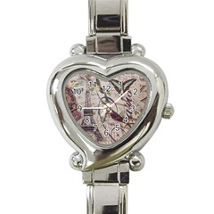 Paris Eiffel Tower Vintage Bird Butterfly French Botanical Art Heart Italian Charm Watch