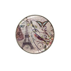 Paris Eiffel Tower Vintage Bird Butterfly French Botanical Art Golf Ball Marker 10 Pack (for Hat Clip)