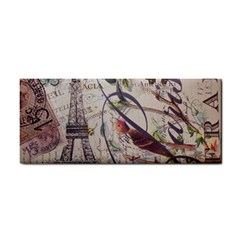 Paris Eiffel Tower Vintage Bird Butterfly French Botanical Art Hand Towel