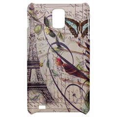 Paris Eiffel Tower Vintage Bird Butterfly French Botanical Art Samsung Infuse 4G Hardshell Case