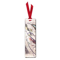 Paris Eiffel Tower Vintage Bird Butterfly French Botanical Art Small Bookmark