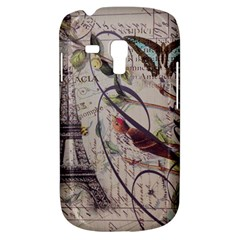 Paris Eiffel Tower Vintage Bird Butterfly French Botanical Art Samsung Galaxy S3 MINI I8190 Hardshell Case