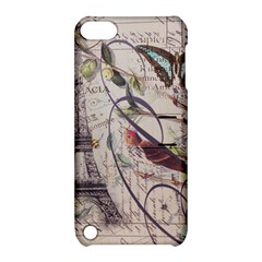 Paris Eiffel Tower Vintage Bird Butterfly French Botanical Art Apple iPod Touch 5 Hardshell Case with Stand