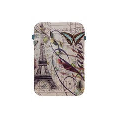 Paris Eiffel Tower Vintage Bird Butterfly French Botanical Art Apple iPad Mini Protective Soft Case