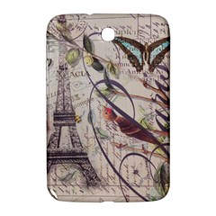 Paris Eiffel Tower Vintage Bird Butterfly French Botanical Art Samsung Galaxy Note 8.0 N5100 Hardshell Case