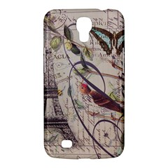 Paris Eiffel Tower Vintage Bird Butterfly French Botanical Art Samsung Galaxy Mega 6.3  I9200