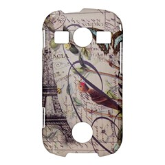Paris Eiffel Tower Vintage Bird Butterfly French Botanical Art Samsung Galaxy S7710 Xcover 2 Hardshell Case