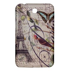 Paris Eiffel Tower Vintage Bird Butterfly French Botanical Art Samsung Galaxy Tab 3 (7 ) P3200 Hardshell Case