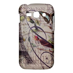 Paris Eiffel Tower Vintage Bird Butterfly French Botanical Art Samsung Galaxy Ace 3 S7272 Hardshell Case
