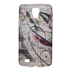 Paris Eiffel Tower Vintage Bird Butterfly French Botanical Art Samsung Galaxy S4 Active (I9295) Hardshell Case