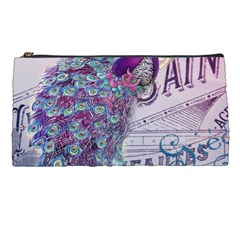 French Scripts  Purple Peacock Floral Paris Decor Pencil Case