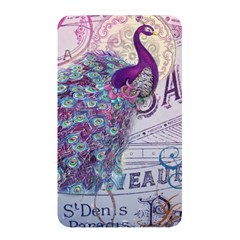 French Scripts  Purple Peacock Floral Paris Decor Memory Card Reader (Rectangular)
