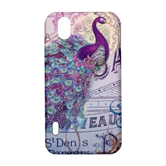 French Scripts  Purple Peacock Floral Paris Decor LG Optimus P970 Hardshell Case