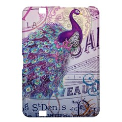 French Scripts  Purple Peacock Floral Paris Decor Kindle Fire HD 8.9  Hardshell Case