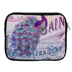 French Scripts  Purple Peacock Floral Paris Decor Apple Ipad 2/3/4 Zipper Case