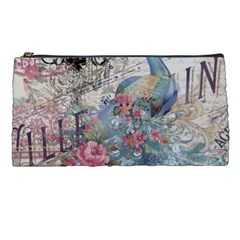 French Vintage Chandelier Blue Peacock Floral Paris Decor Pencil Case