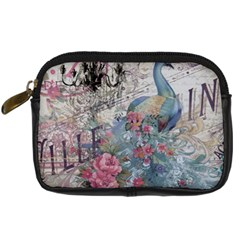 French Vintage Chandelier Blue Peacock Floral Paris Decor Digital Camera Leather Case