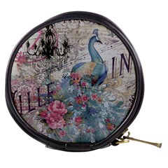 French Vintage Chandelier Blue Peacock Floral Paris Decor Mini Makeup Case