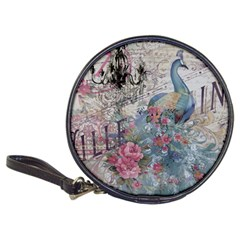 French Vintage Chandelier Blue Peacock Floral Paris Decor Cd Wallet