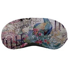 French Vintage Chandelier Blue Peacock Floral Paris Decor Sleeping Mask