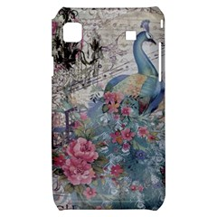 French Vintage Chandelier Blue Peacock Floral Paris Decor Samsung Galaxy S i9000 Hardshell Case