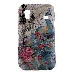 French Vintage Chandelier Blue Peacock Floral Paris Decor Samsung Galaxy Ace S5830 Hardshell Case
