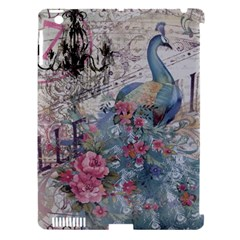 French Vintage Chandelier Blue Peacock Floral Paris Decor Apple iPad 3/4 Hardshell Case (Compatible with Smart Cover)