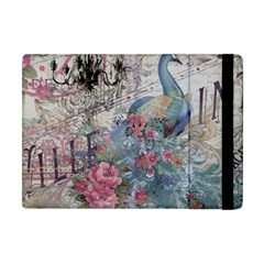 French Vintage Chandelier Blue Peacock Floral Paris Decor Apple iPad Mini Flip Case
