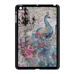 French Vintage Chandelier Blue Peacock Floral Paris Decor Apple iPad Mini Case (Black)