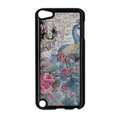 French Vintage Chandelier Blue Peacock Floral Paris Decor Apple iPod Touch 5 Case (Black)