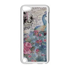 French Vintage Chandelier Blue Peacock Floral Paris Decor Apple iPod Touch 5 Case (White)