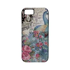 French Vintage Chandelier Blue Peacock Floral Paris Decor Apple iPhone 5 Classic Hardshell Case (PC+Silicone)