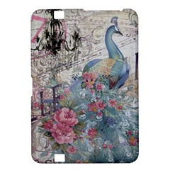 French Vintage Chandelier Blue Peacock Floral Paris Decor Kindle Fire HD 8.9  Hardshell Case