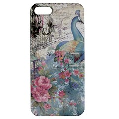 French Vintage Chandelier Blue Peacock Floral Paris Decor Apple Iphone 5 Hardshell Case With Stand