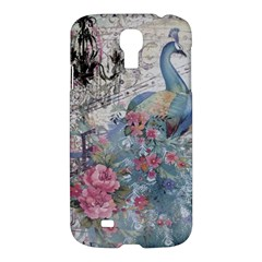 French Vintage Chandelier Blue Peacock Floral Paris Decor Samsung Galaxy S4 I9500/I9505 Hardshell Case