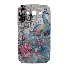 French Vintage Chandelier Blue Peacock Floral Paris Decor Samsung Galaxy Grand DUOS I9082 Hardshell Case