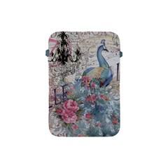 French Vintage Chandelier Blue Peacock Floral Paris Decor Apple iPad Mini Protective Soft Case