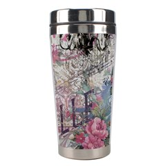 French Vintage Chandelier Blue Peacock Floral Paris Decor Stainless Steel Travel Tumbler