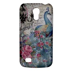 French Vintage Chandelier Blue Peacock Floral Paris Decor Samsung Galaxy S4 Mini Hardshell Case
