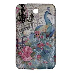 French Vintage Chandelier Blue Peacock Floral Paris Decor Samsung Galaxy Tab 3 (7 ) P3200 Hardshell Case