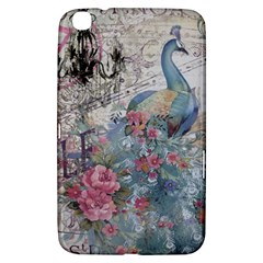 French Vintage Chandelier Blue Peacock Floral Paris Decor Samsung Galaxy Tab 3 (8 ) T3100 Hardshell Case