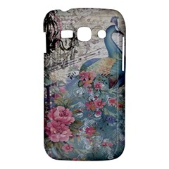 French Vintage Chandelier Blue Peacock Floral Paris Decor Samsung Galaxy Ace 3 S7272 Hardshell Case