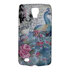 French Vintage Chandelier Blue Peacock Floral Paris Decor Samsung Galaxy S4 Active (I9295) Hardshell Case