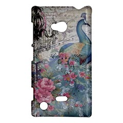 French Vintage Chandelier Blue Peacock Floral Paris Decor Nokia Lumia 720 Hardshell Case