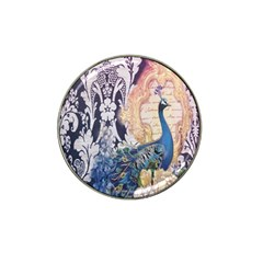 Damask French Scripts  Purple Peacock Floral Paris Decor Golf Ball Marker (for Hat Clip)