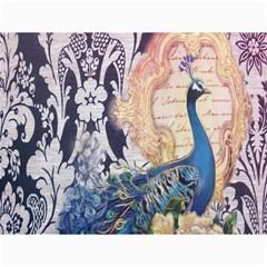 Damask French Scripts  Purple Peacock Floral Paris Decor Canvas 12  X 16  (unframed)