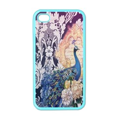 Damask French Scripts  Purple Peacock Floral Paris Decor Apple iPhone 4 Case (Color)